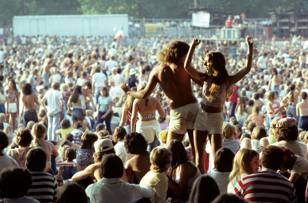 1970s Couple at a Concert