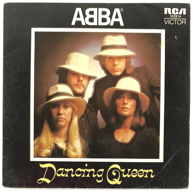 abba dancing queen record cover