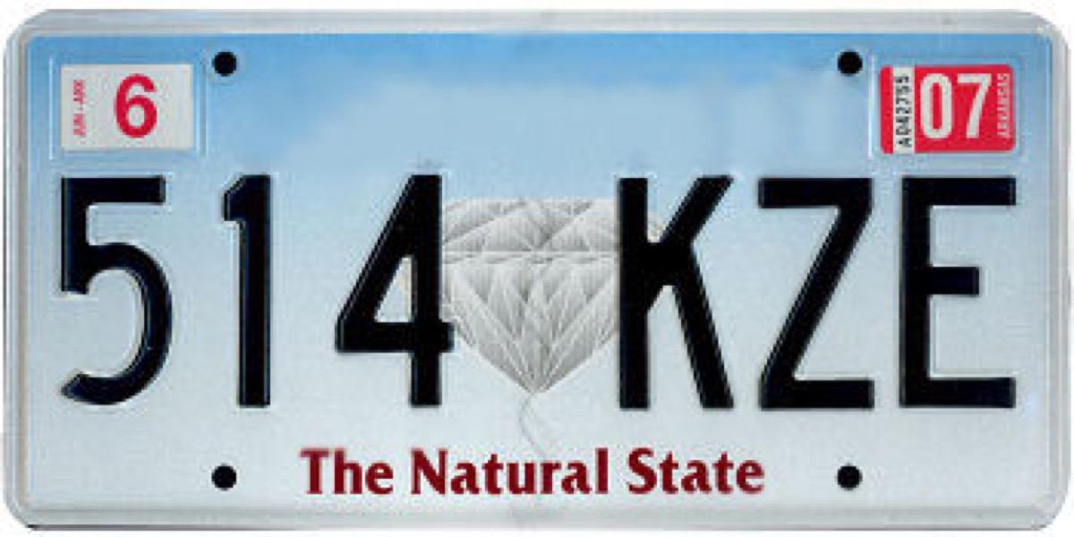 arkansas license plate photoshopped