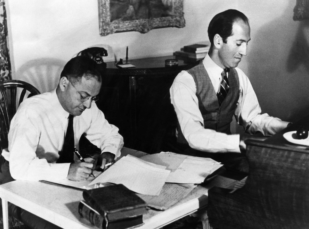 Ira and George Gershwin at work in the 1930s, some of the most famous siblings ever