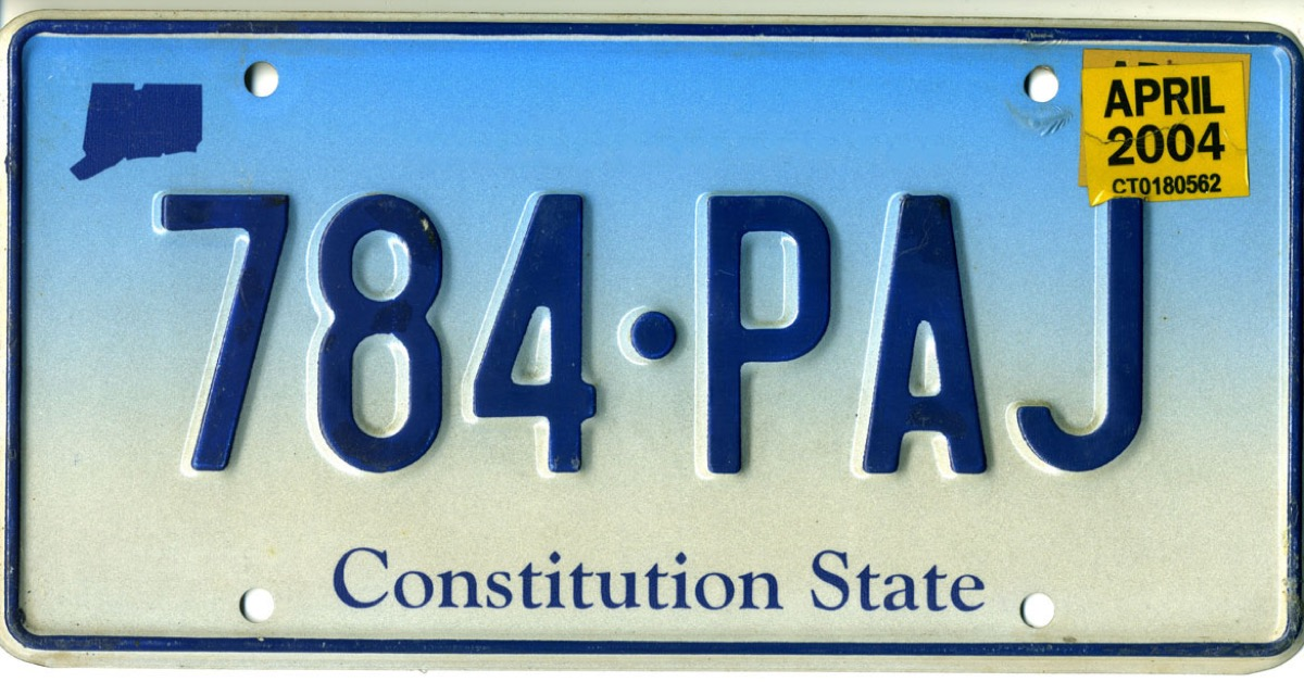 connecticut license plate photoshopped
