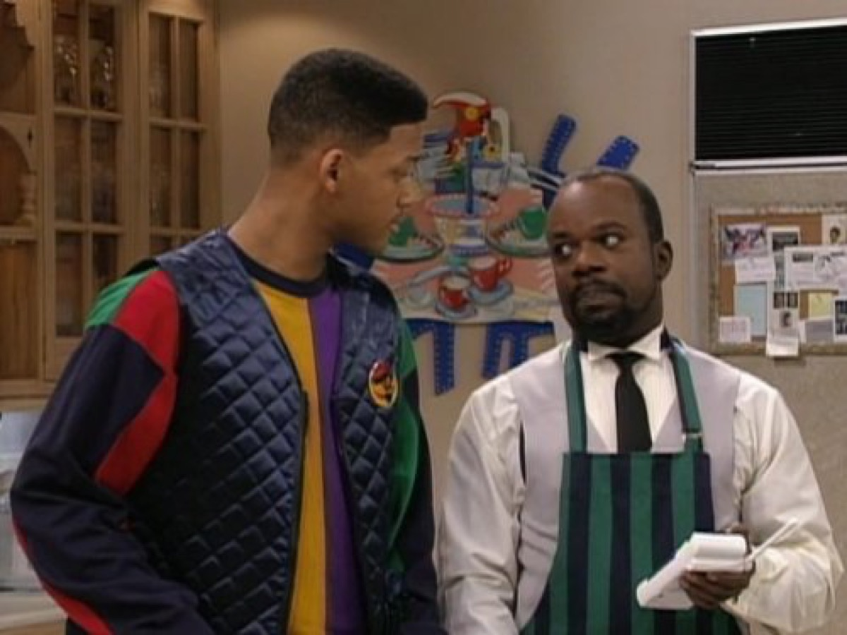 90s Fashion cross colors - Will Smith and Joseph Marcell in The Fresh Prince of Bel-Air (1990)