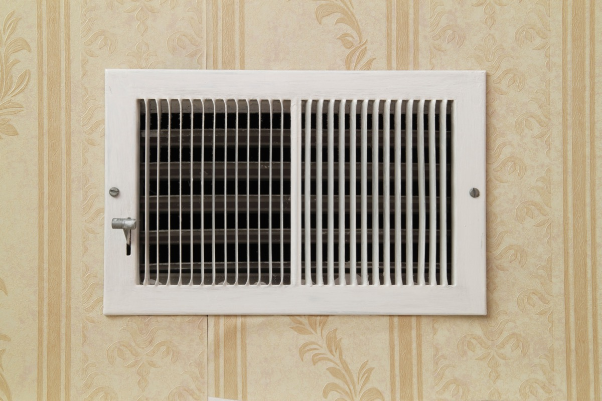 central air conditioning vent, property damage