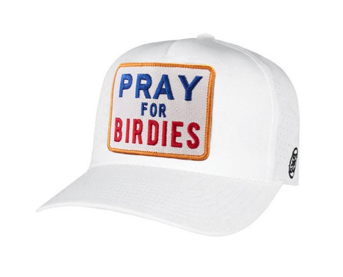 golf hats PRAY FOR BIRDIES SNAPBACK