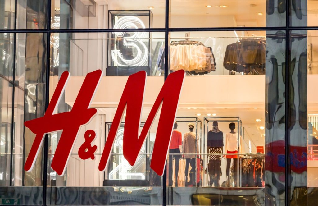 H&M store front, brand acronym names
