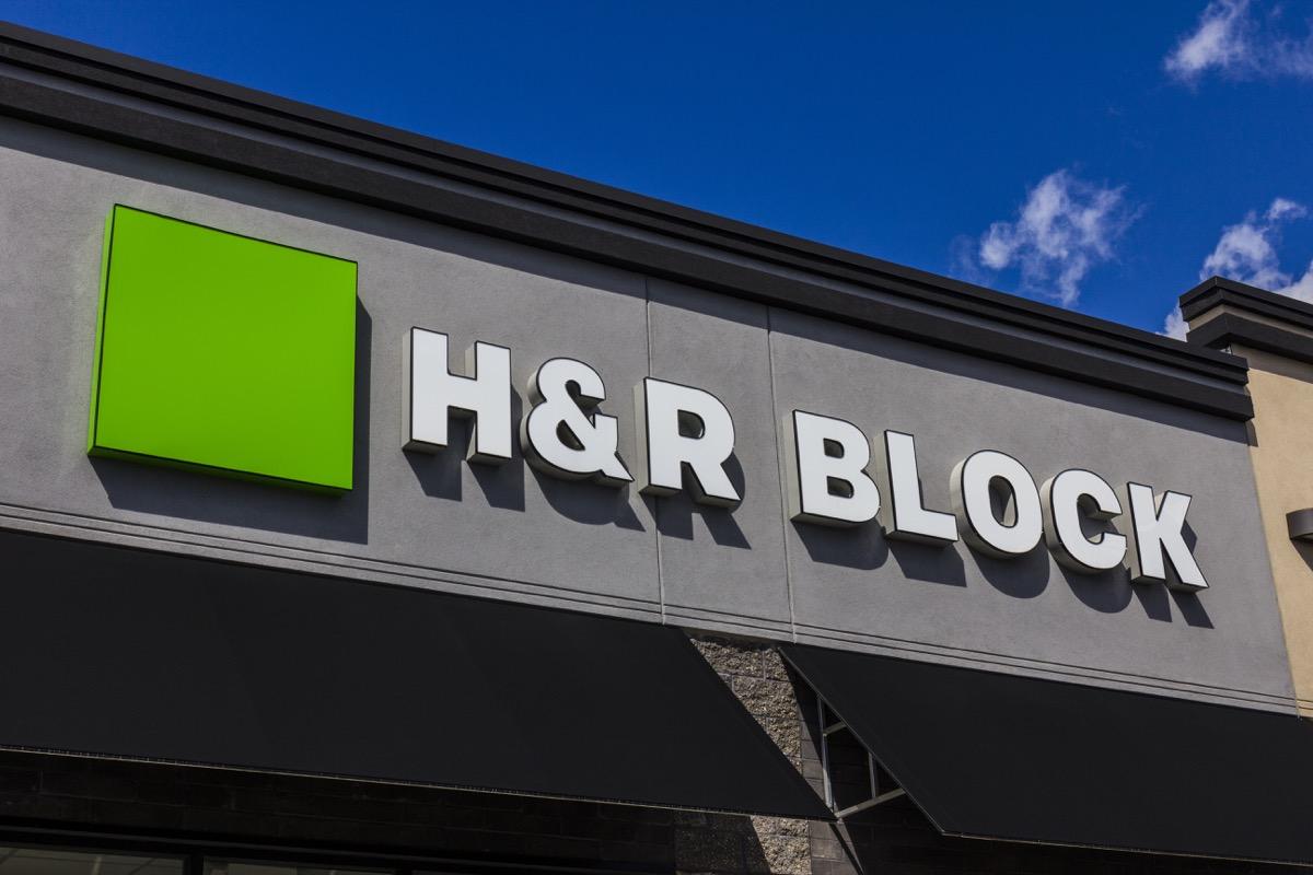 H&R block storefront, brand name abbreviations