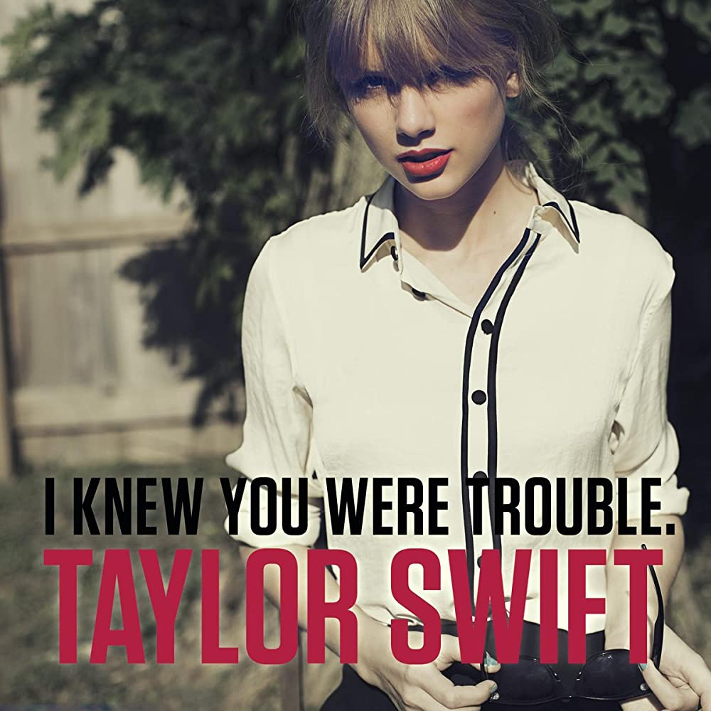taylor swift I knew you were trouble single cover