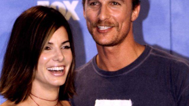 Matthew McConaughey and Sandra Bullock in 1999