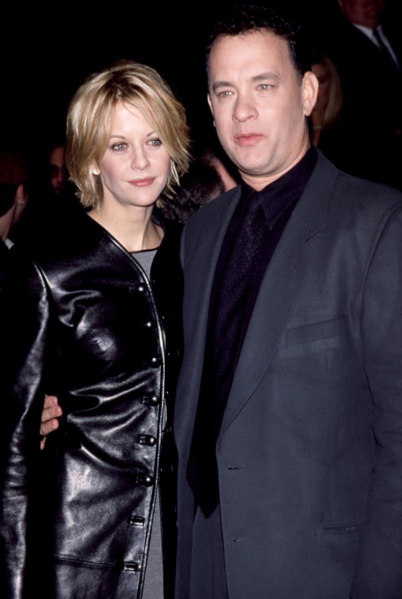 Celebrities Meg Ryan, Tom Hanks wear black at 1998 premiere of You've Got Mail
