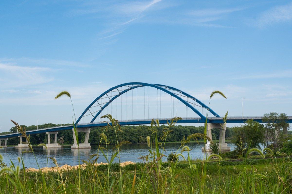 Bridge over Mississippi River in Sabula, Iowa