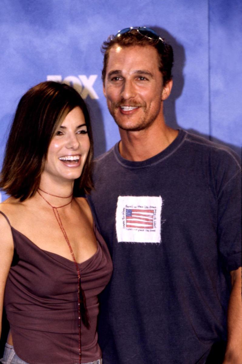 Celebrities Sandra Bullock and Matthew McConaughey at 1999 Teen Choice Awards
