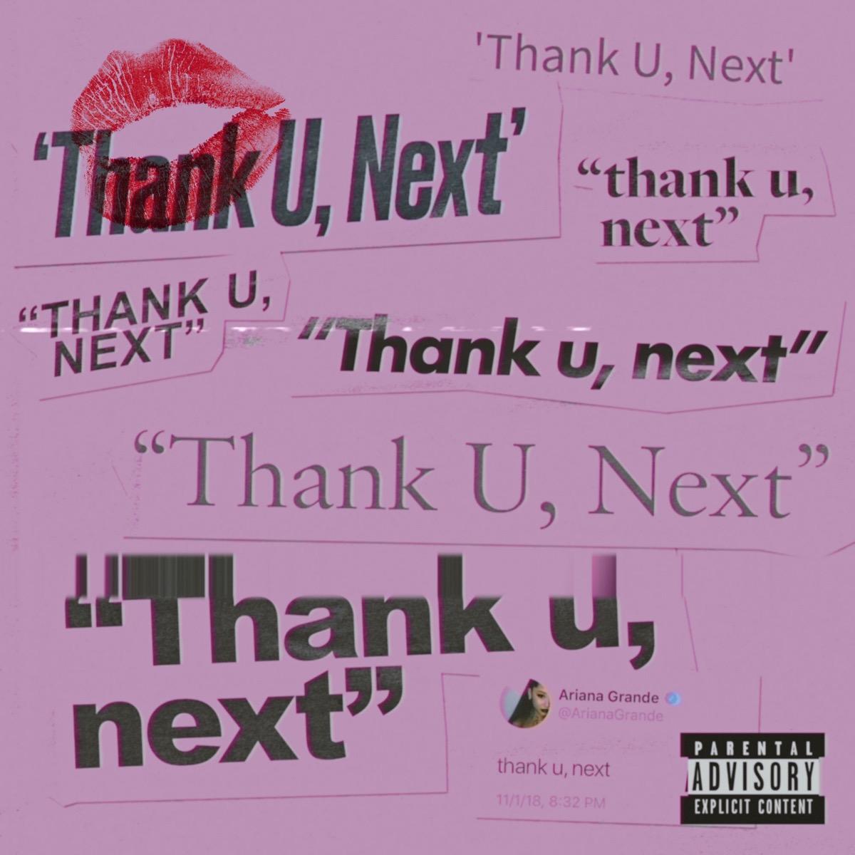 ariana grande thank u next single cover