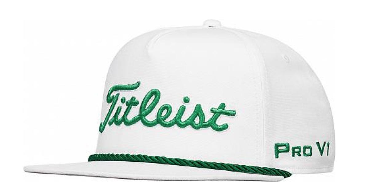 golf hat - Titleist Tour Rope Flat Bill Snapback Adjustable Golf Hats