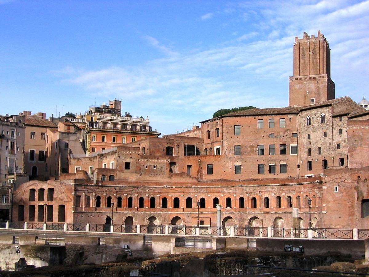 old Trajan Market in rome, ancient rome facts