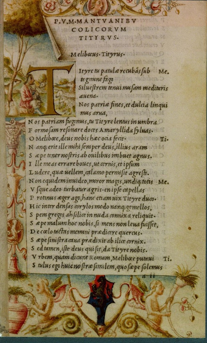 a printed page of ancient roman poet virgil, ancient rome facts