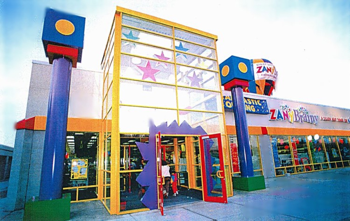 Zany Brainy storefront, 90 stores
