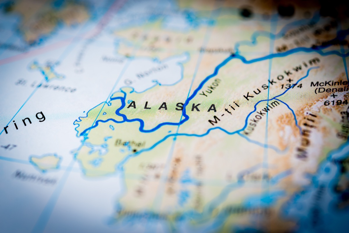 alaska on globe or map, hard to believe facts