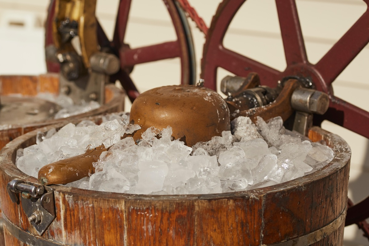 antique ice cream maker weird old household items