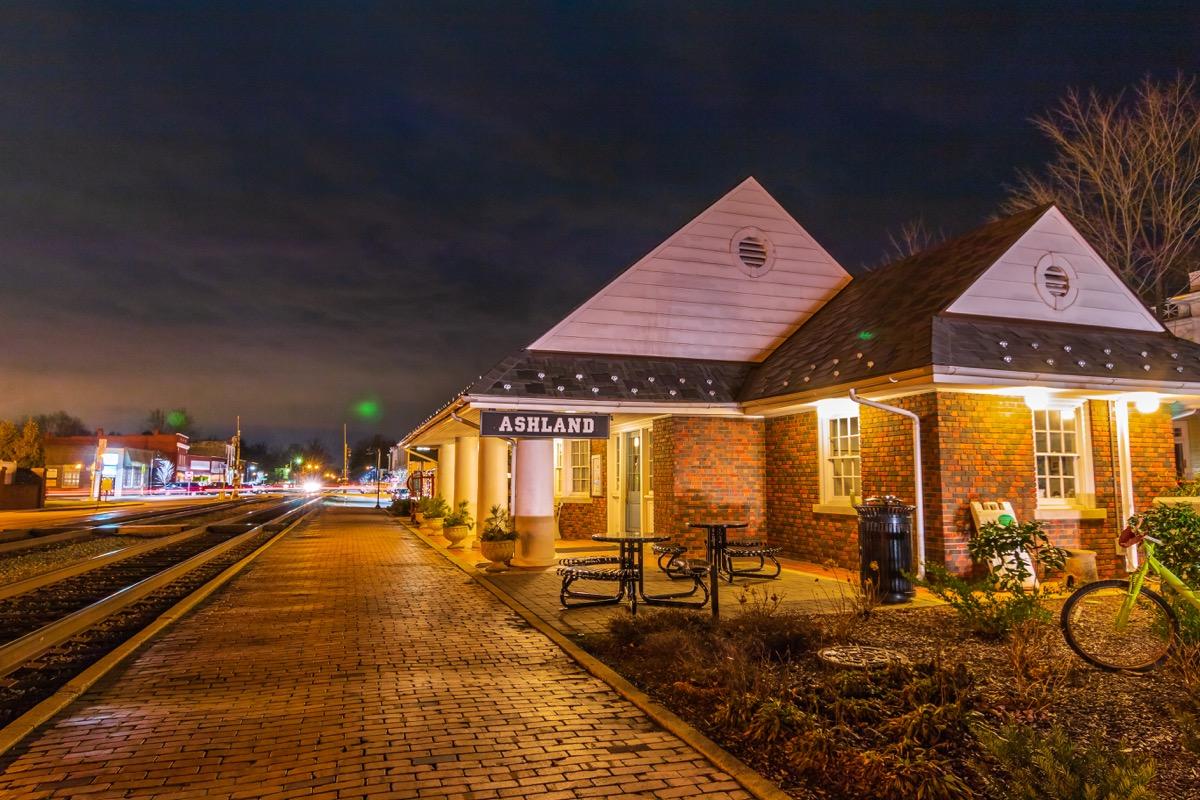 Ashland virginia train station, most common town names
