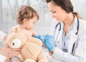 Baby at the Doctor's Office Getting a Vaccine, parenting is harder