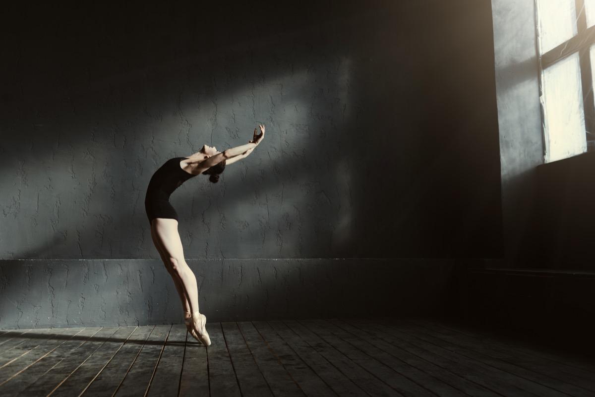 Ballet dancer in studio jobs with high divorce rates