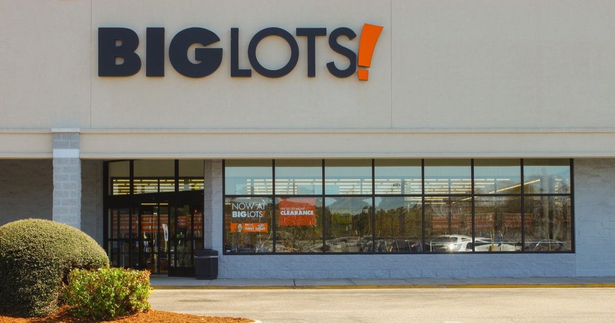entrance of a Big Lots store in Gloucester, Virginia