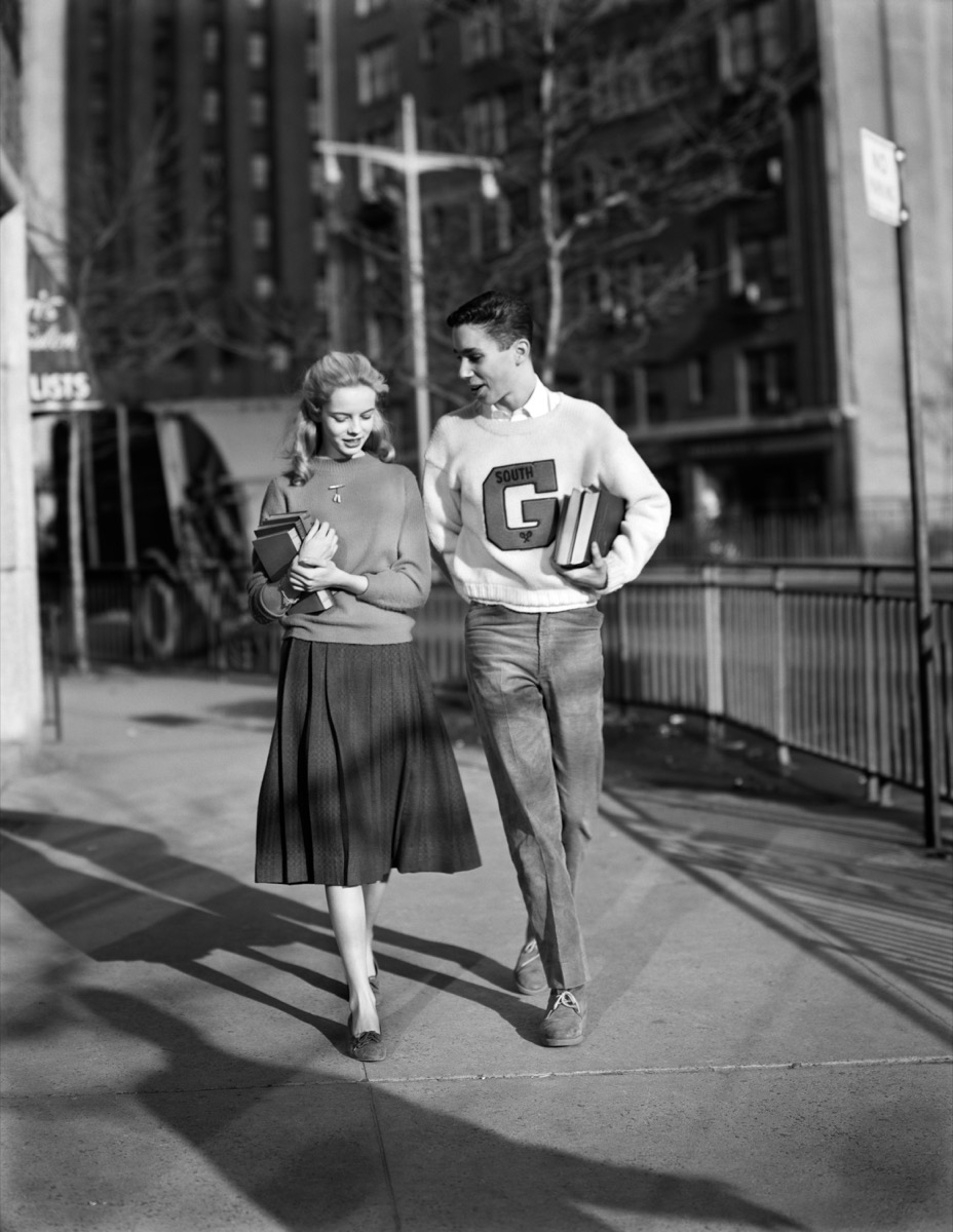 Boy and Girl Walking Home Together in the 1950s {Dating 50 Years Ago}