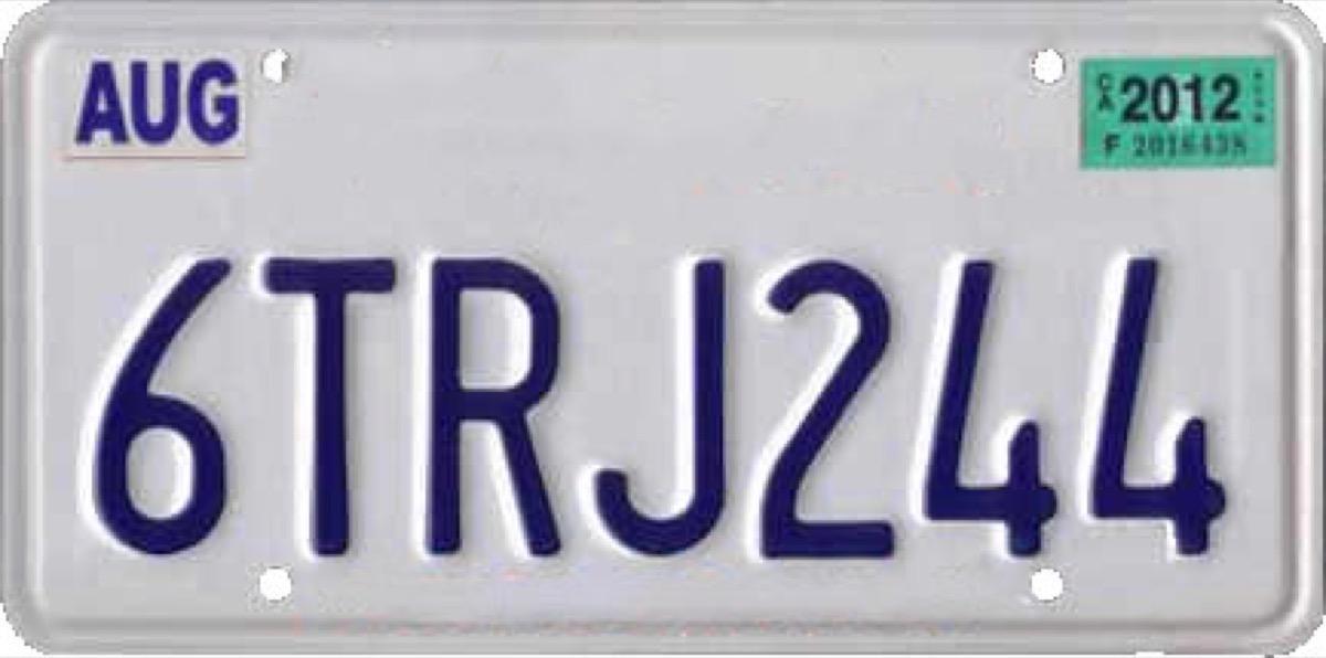 california license plate photoshopped