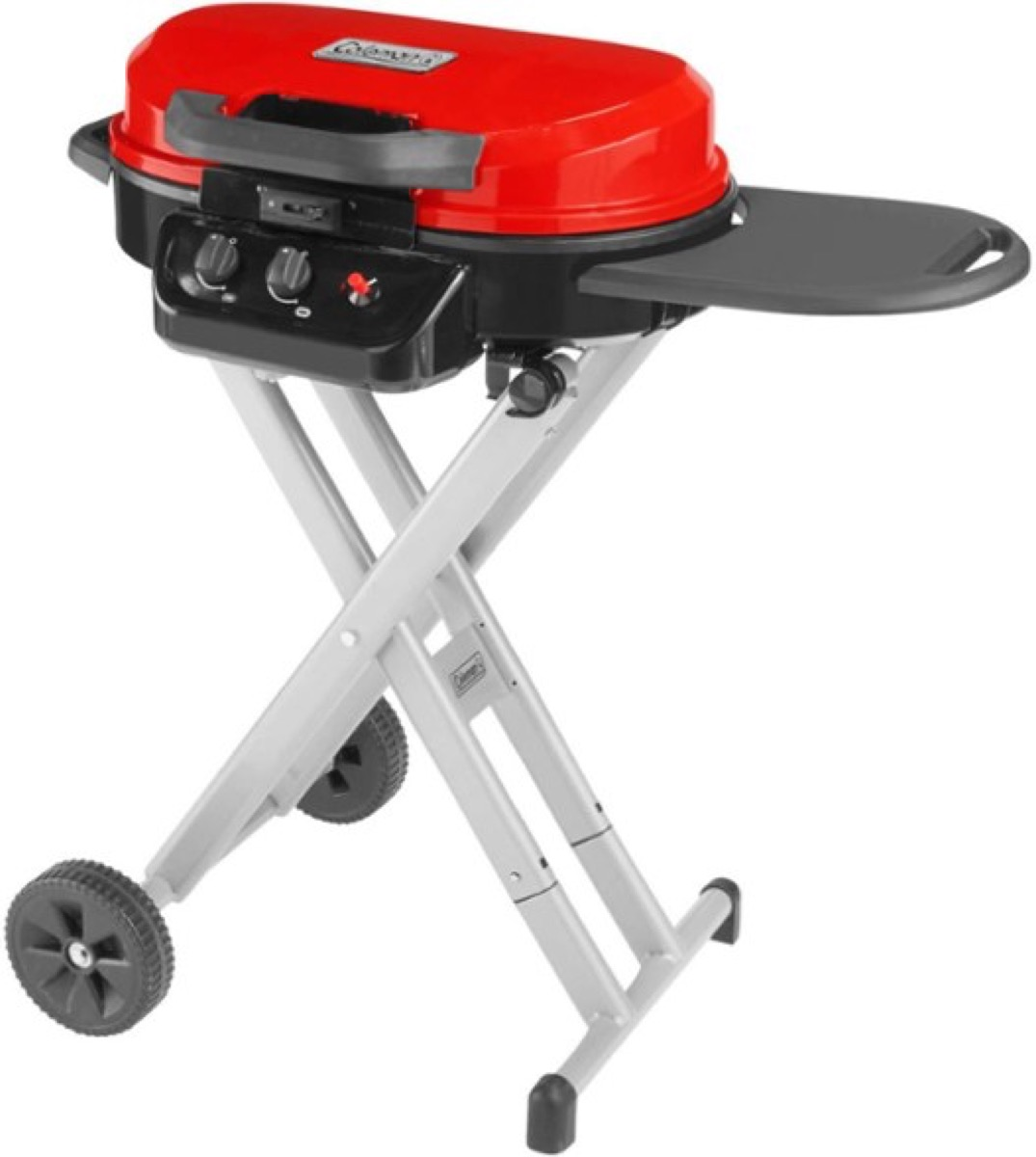 coleman portable grill in red, best boyfriend gifts