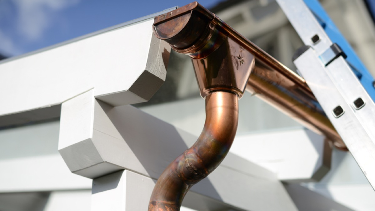 copper gutter, signs your home is falling apart