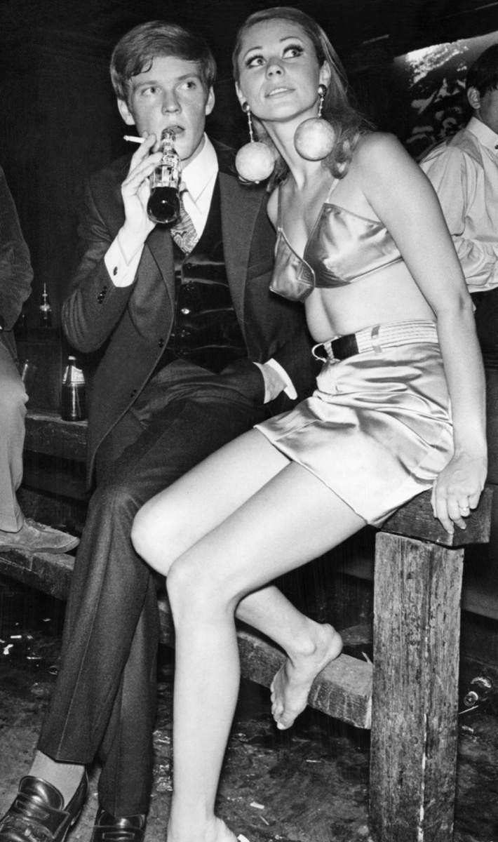 A Couple at a Party in the 1970s