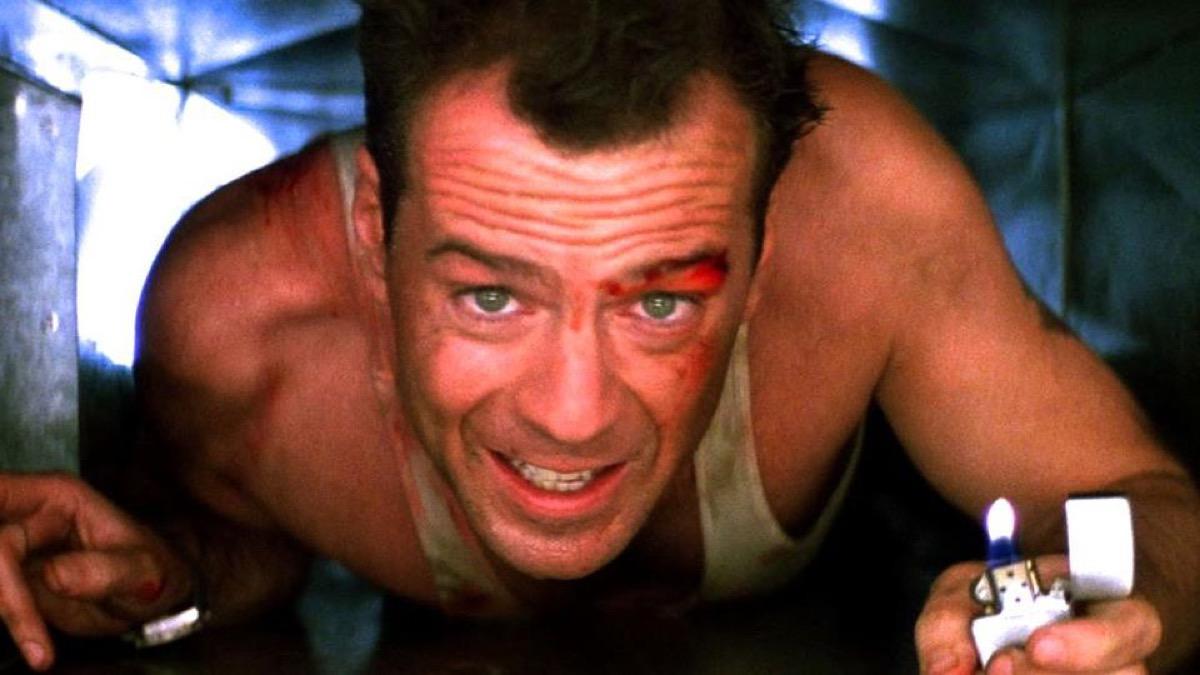 Bruce Willis in die hard movie