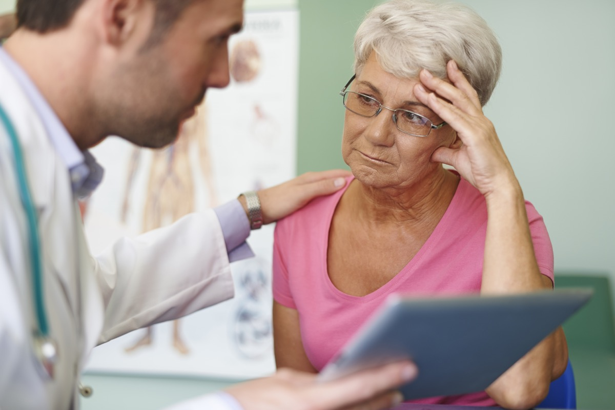 Doctor Comforting an Older Patient, what your indigestion means