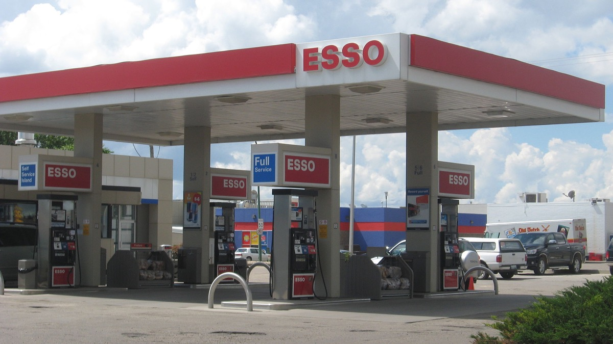 Esso Gas Station {Brands with Different Names Abroad}