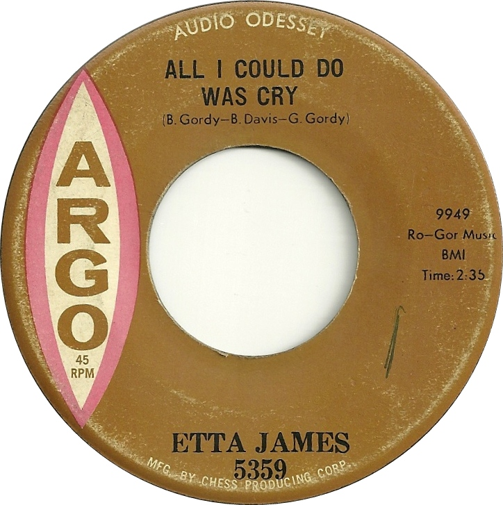 etta james all I could do was cry record