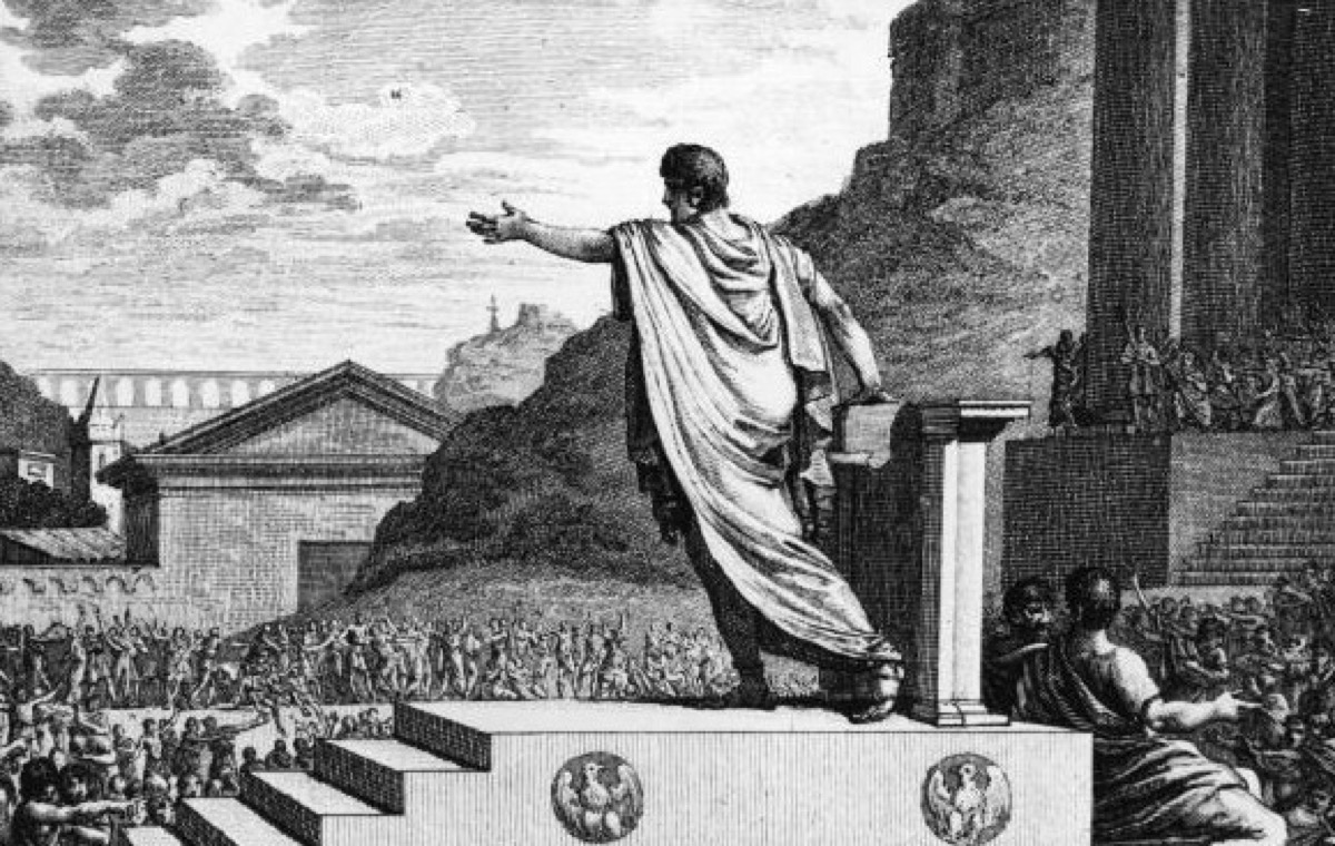 gaius gracchus addressing plebeians in rome over land reforms, ancient rome facts