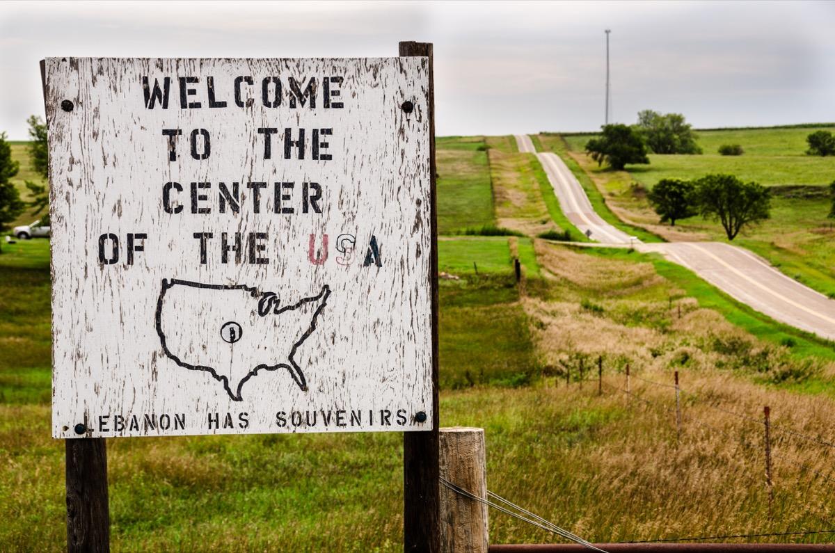 Geographical center of U.S. Georgia