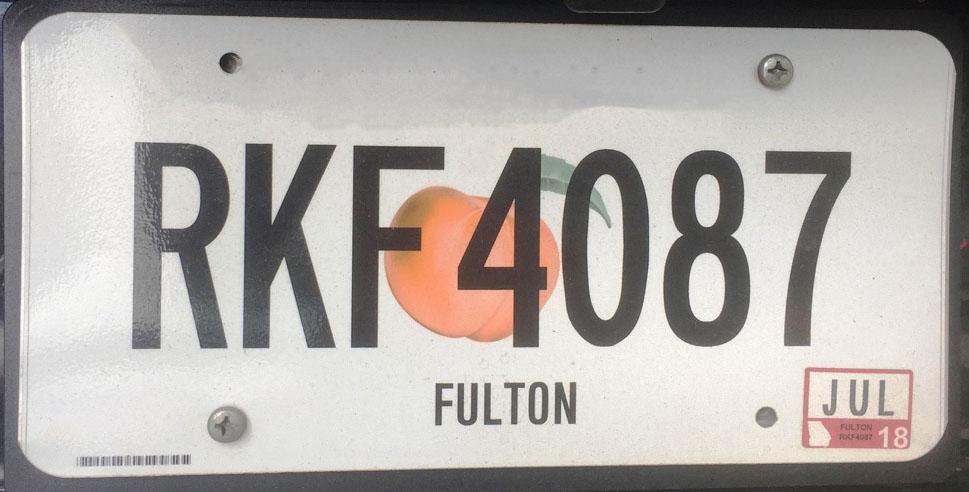 georgia license plate photoshopped
