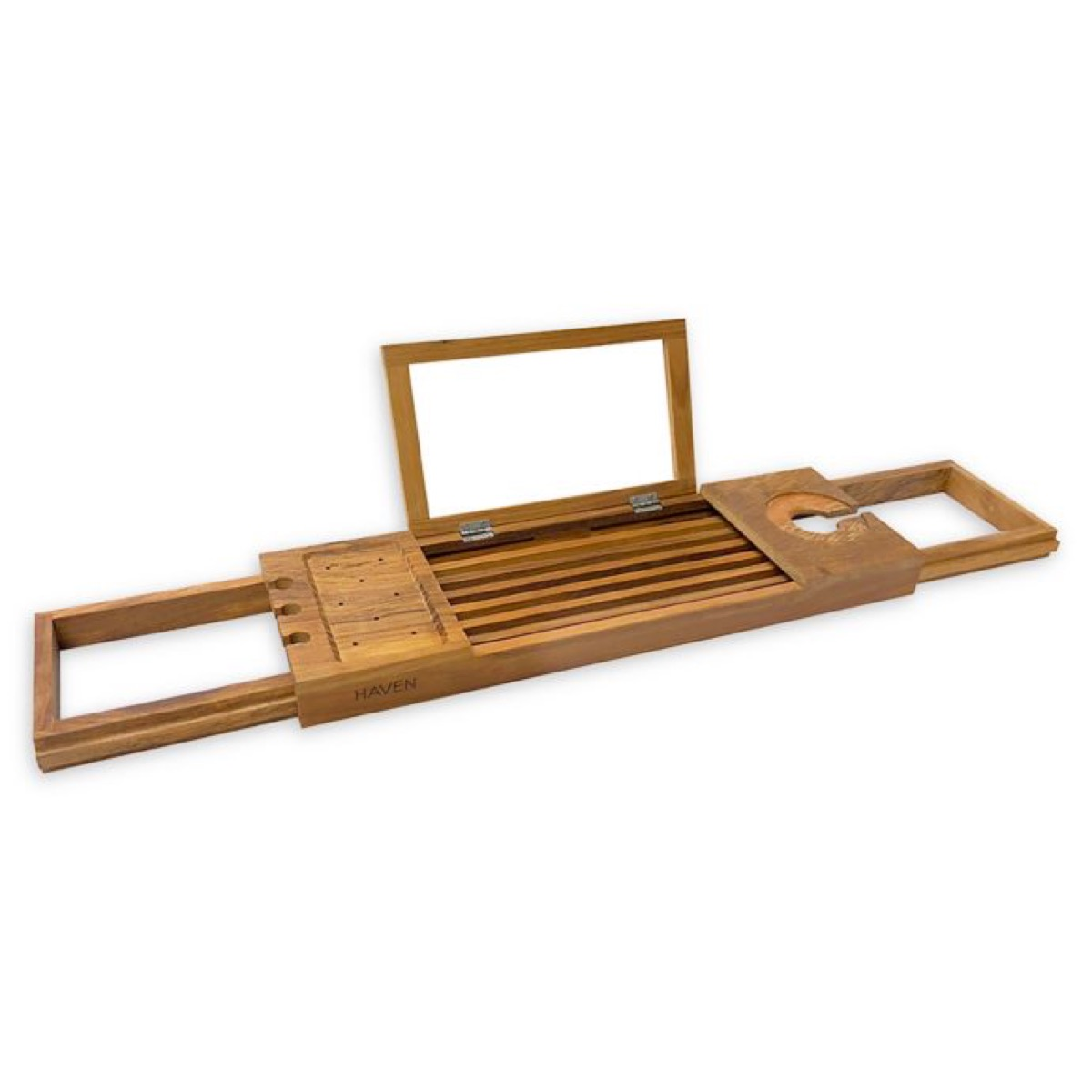 bed bath and beyond haven teak bathtub caddy, gifts for girlfriend