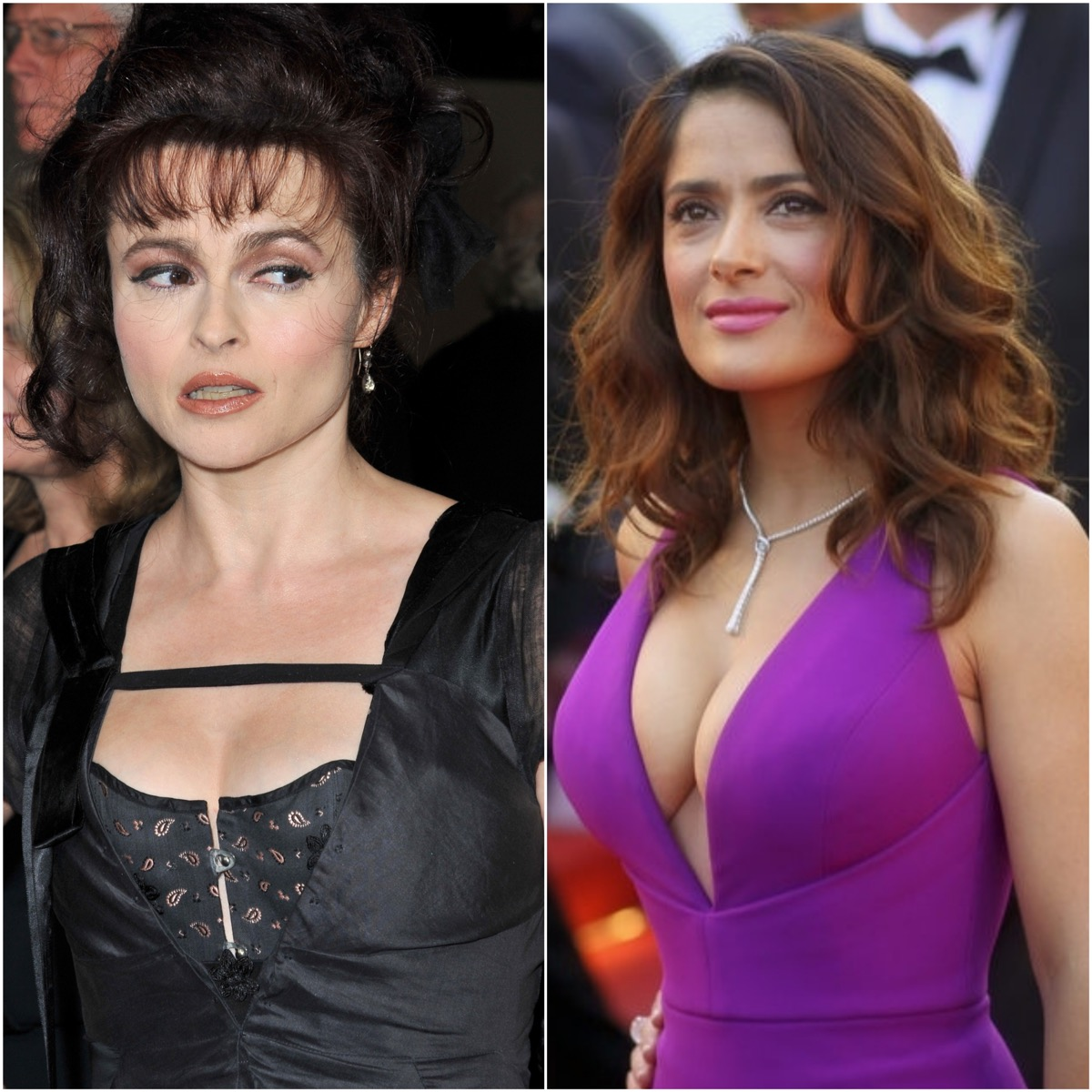 Helena Bonham Carter and Salma Hayek