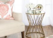 Gold Hourglass Accent Table Home Depot