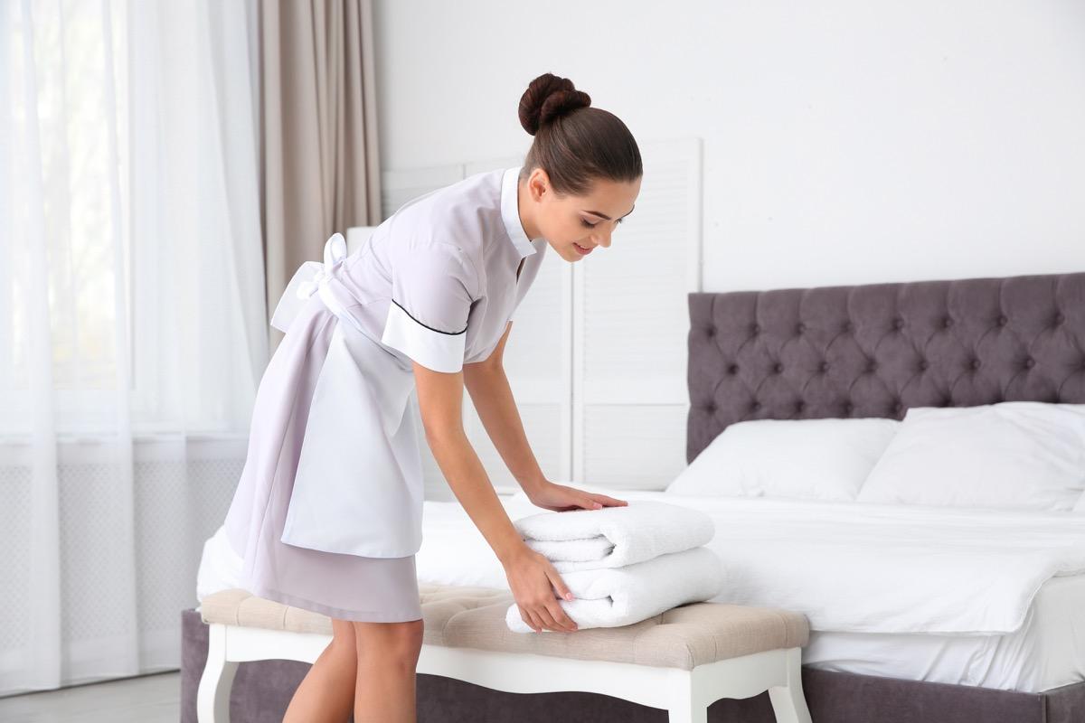 Housekeeping in Hotel secret disney perks