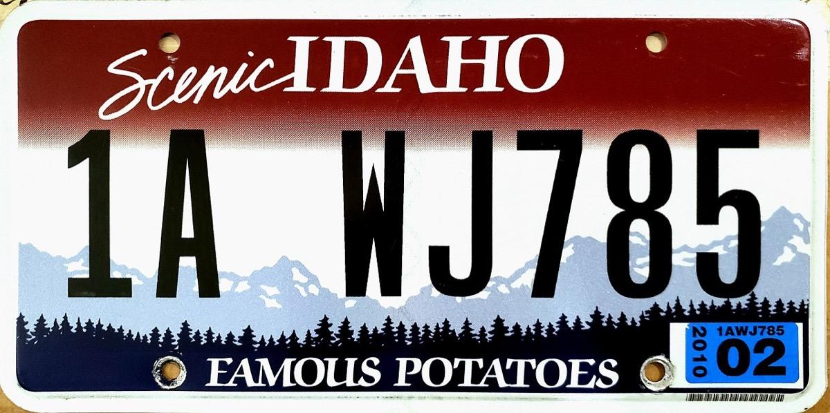 idaho state license plate