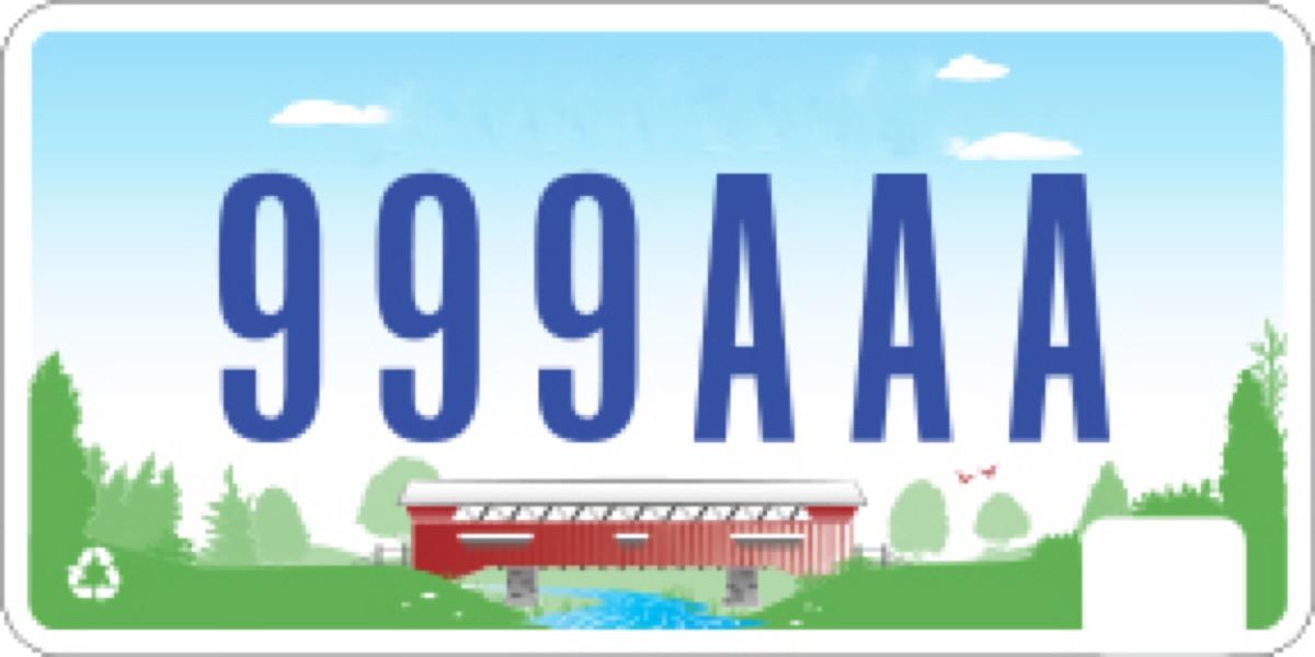 indiana license plate photoshopped