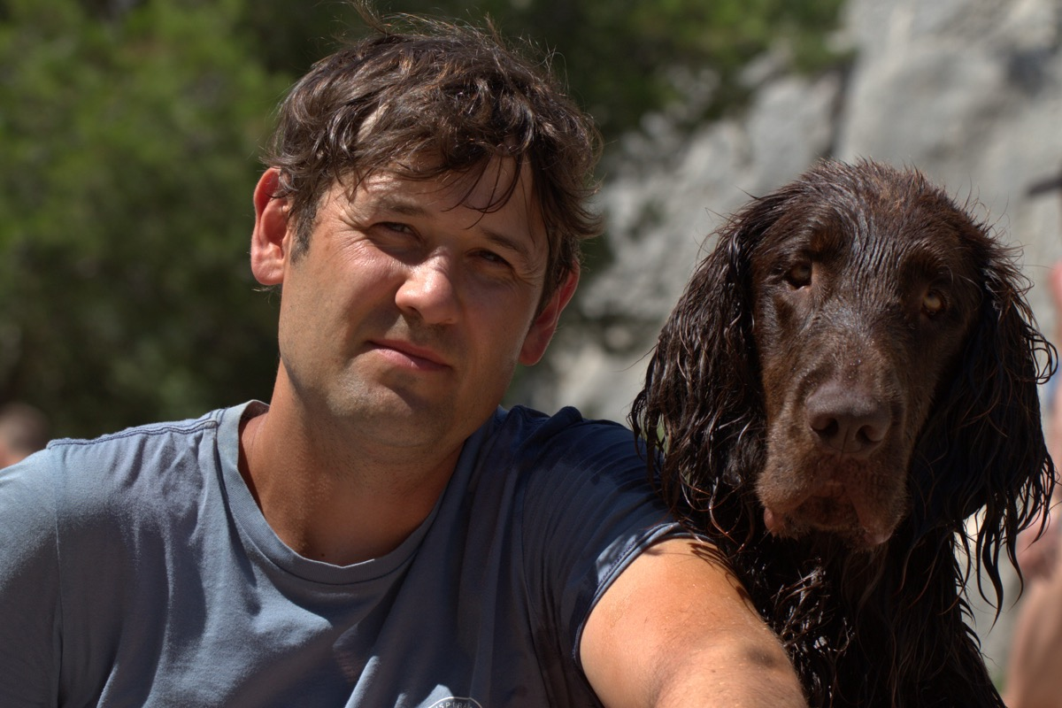 man and dog have similar hairstyle dogs who look like their owners