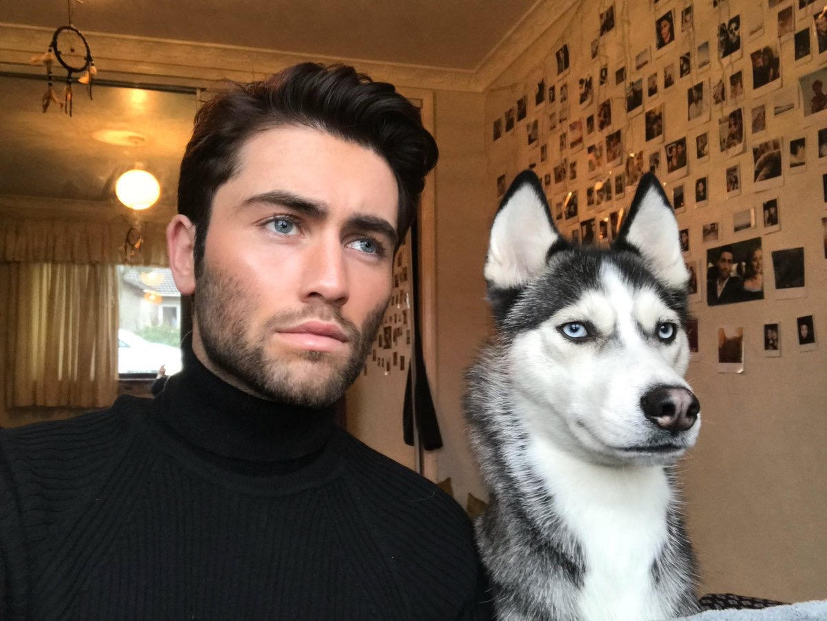 man and husky look the same dogs who look like their owners
