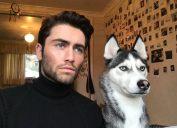 man and husky look the same