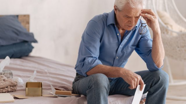 Older Man on the Bed ways we're unhealthy