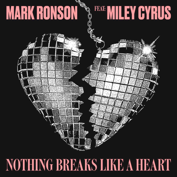 mark ronson and miley cyrus nothing breaks like a heart single cover