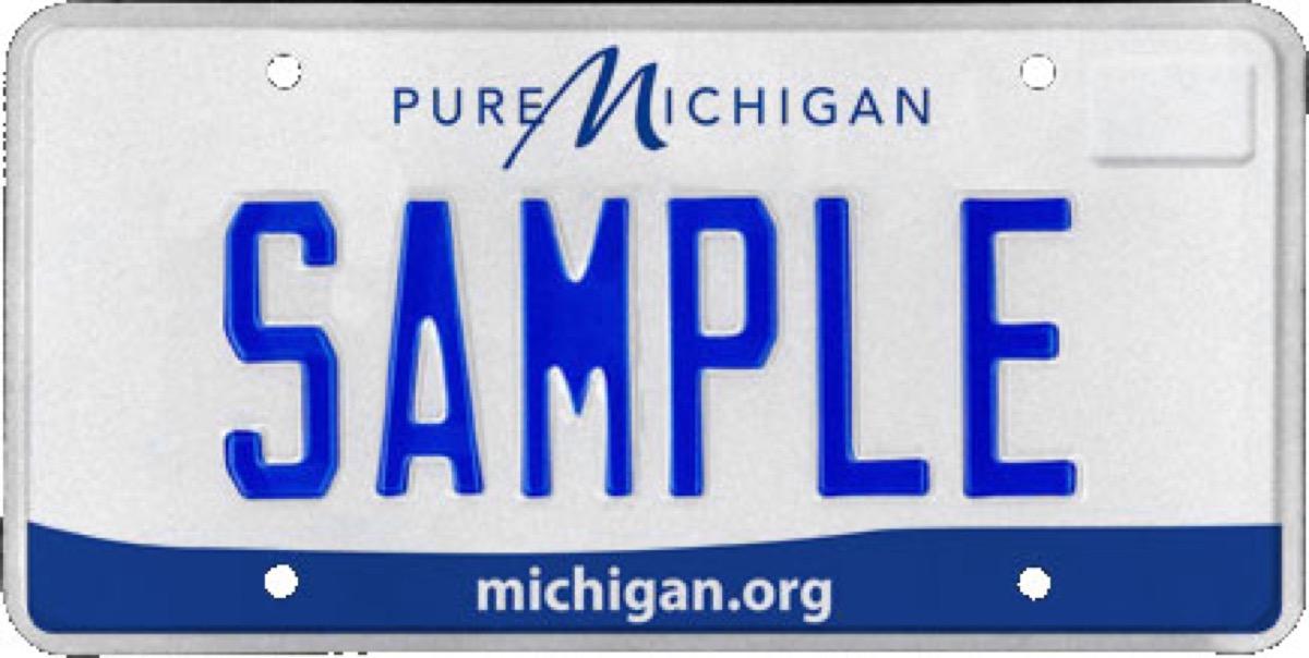 michigan state license plate